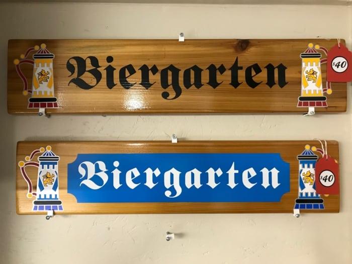 Biergarten sign